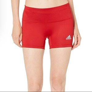 """Adidas 4"""" Red Compression Fit Short Tights SZ M"""